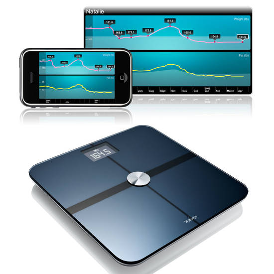 The Withings Wireless Scales work with mobile applications and websites to track your weight and other body information. PHOTO PROVIDED. <strong></strong>
