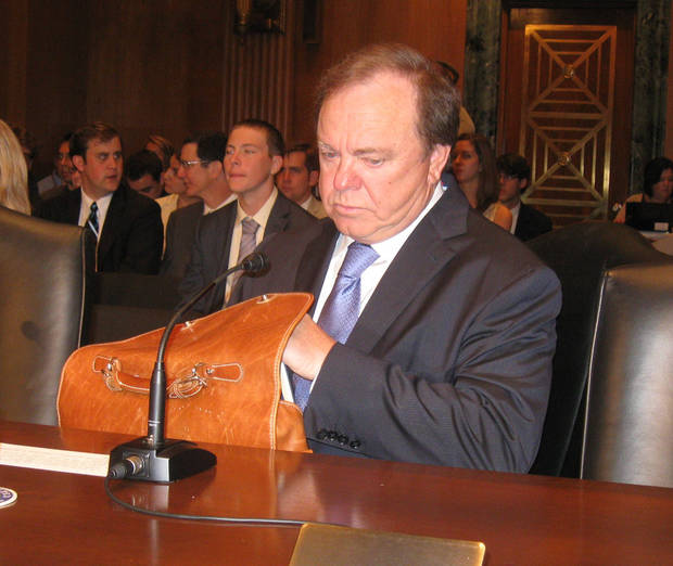 Continental Resources CEO Harold Hamm prepares to testify before a U.S. Senate committee Tuesday about federal tax policy related to energy. <strong>Chris Casteel - The Oklahoman</strong>