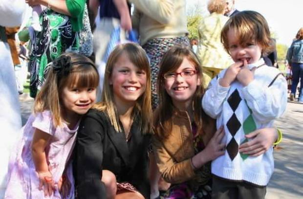 Claire Allen, 3, Allison Allen, 11, Mackenzie Kenney, 11, and Drew Kenney, 3. PHOTO BY DAVID FAYTINGER, FOR THE OKLAHOMAN