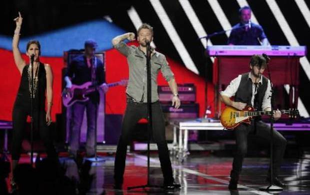 Lady Antebellum performs Wednesday at the CMT Music Awards in Nashville, Tenn. (Associated Press photo)