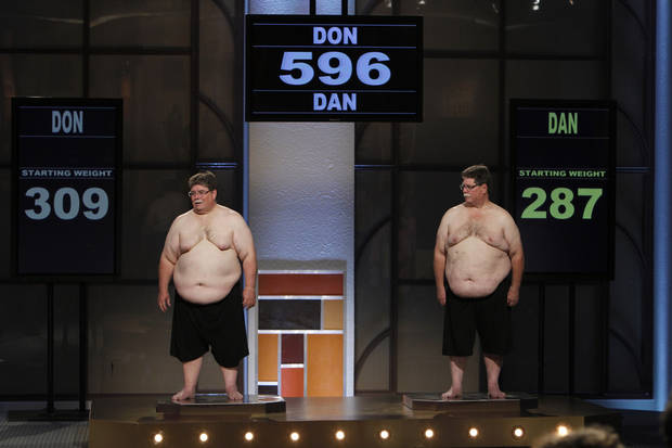 THE BIGGEST LOSER -- Episode 1101 -- Pictured: (l-r) Don Evans, Dan Evans -- Photo by: Trae Patton/NBC