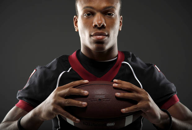 HIGH SCHOOL FOOTBALL: All-State football player Kevin Peterson, of Wagoner, poses for a photo in Oklahoma CIty, Wednesday, Dec. 14, 2011. Photo by Bryan Terry, The Oklahoman