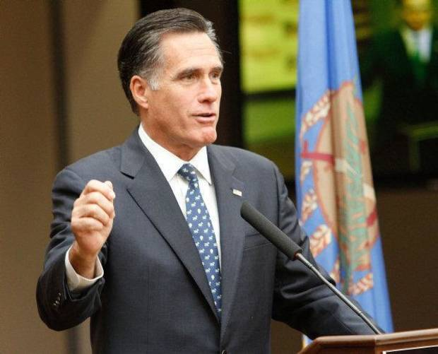 STATE / CITY / VISIT: Republican presidential candidate Mitt Romney speaks to supporters at the Jim Thorpe Association and Sports Hall of Fame  in Oklahoma City , Friday, October 21, 2011. Photo by Steve Gooch  ORG XMIT: KOD