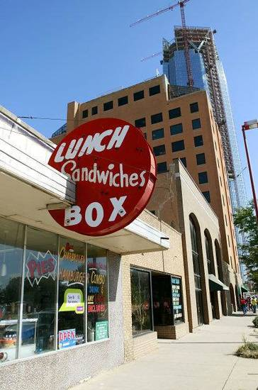 The Lunch Box sits just west of the Devon Tower, still under construction in the background in Oklahoma City on Tuesday, Oct. 25, 2011. Photo by John Clanton, The Oklahoman ORG XMIT: KOD