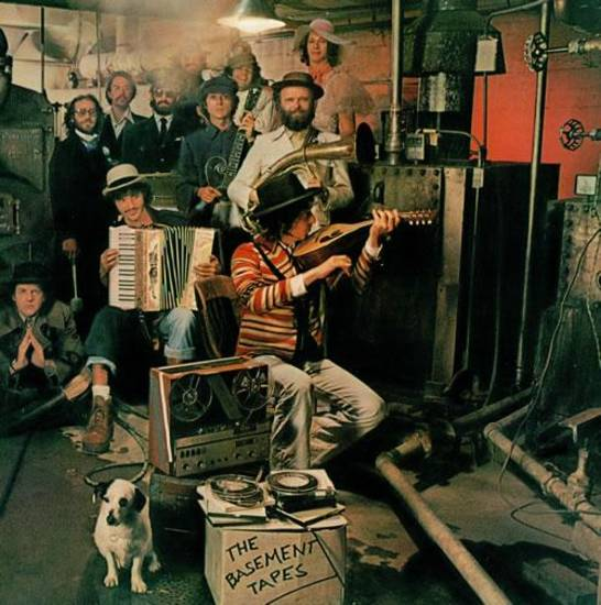 "The iconic cover art for ""The Basement Tapes."" Not bad, but Hopper would've done better."