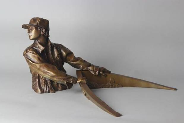 "David Phelps' sculpture ""Tracker"" will be featured this weekend in the inaugural ""The Manly Show."""