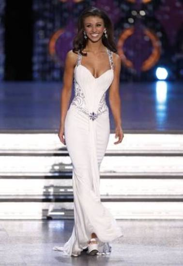 Miss Oklahoma Betty Thompson competes during the 2012 Miss America Pageant Saturday Jan. 14, 2012 at The Planet Hollywood Resort & Casino in Las Vegas. Thomson placed second in the Pageant while Miss Wisconsin Laura Kaeppeler went on to win. (AP Photo/Eric Jamison) ORG XMIT: NVEJ120