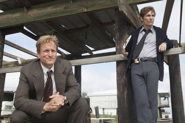 TRUE DETECTIVE: Woody Harrelson, Matthew McConaughey. Photo by James Bridges/HBO
