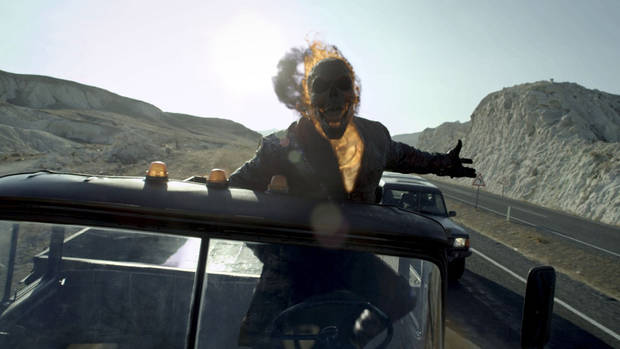 "The Ghost Rider in ""Ghost Rider: Spirit of Vengeance."" Columbia Pictures <strong>Courtesy of Columbia Pictures</strong>"