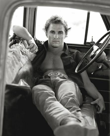"Herb Ritts' ""Matthew McConaughey, Palmdale,"" from 1996, is featured in the new exhibit ""Herb Ritts: Beauty and Celebrity"" at the Oklahoma City Museum of Art. Photo provided by the Herb Ritts Foundation. <strong></strong>"