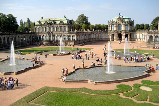 The lovely Zwinger palace complex is seen in Dresden, Germany. Photo by Cameron Hewitt