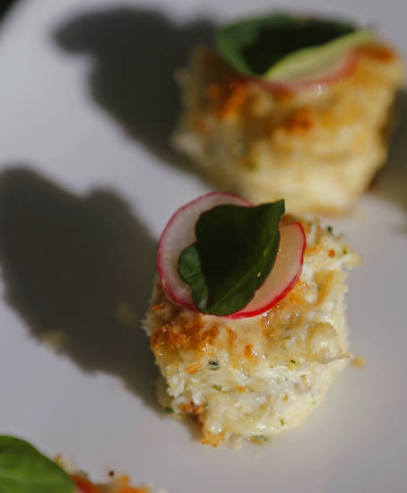 Chef Valentine's crab cakes should immediately be considered among the best in the city.