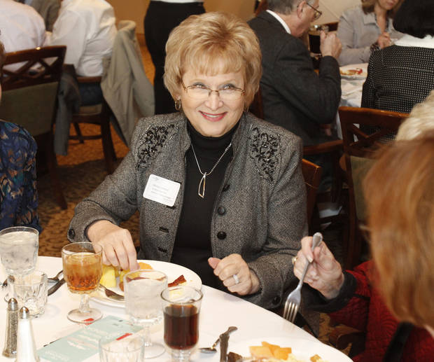 Rep. Marian Cooksey, R-Edmond, has breakfast before speaking at a pre-session Legislative breakfast sponsored by Edmond Area Chamber of Commerce. PHOTO BY PAUL HELLSTERN, THE OKLAHOMAN. <strong>PAUL HELLSTERN - Oklahoman</strong>