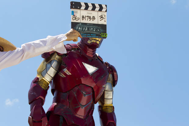 """Marvel's The Avengers""   IRON MAN on set  Ph: Zade Rosenthal    © 2011 MVLFFLLC.  TM & © 2011 Marvel.  All Rights Reserved."