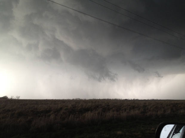 Wall cloud. Photo contributed by Jason Holden