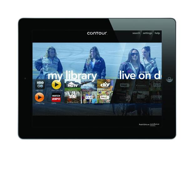 The home screen for Cox Communication's Contour app is pictured in this press image provided by Cox Communications. <strong></strong>