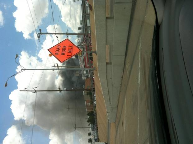 Ugly fire near 23rd and I35