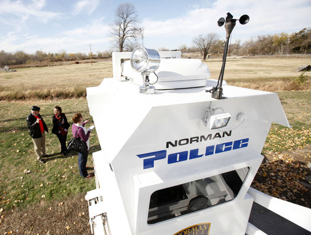 The Norman Police Department has acquired this Skywatch tower to assist in deterring crimes in Norman, OK, Friday, Nov. 18, 2011. By Paul Hellstern, The Oklahoman