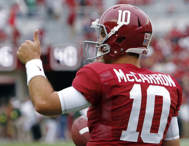 Alabama quarterback AJ McCarron is underrated, says Berry Tramel. (AP Photo/Butch Dill)