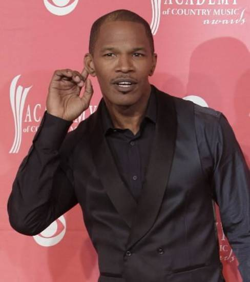 Jamie Foxx attended the Academy of Country Music Awards in Las Vegas. (AP Photo by Jae C. Hong)
