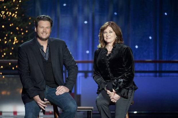 Oklahoma country music superstar Blake Shelton and his mother, Dorothy Shackleford, will perform a duet on his TV Christmas special.   Photo by Lewis Jacobs/NBC