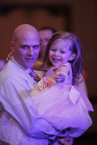 Jeff Clark, OKC and daughter, Jaylei, 4,    Midwest City Parks and Recreation Department hosted the city's annual Daddy-Daughter Dance that featured three 90-minute dance sessions at the Reed Center on Saturday, Feb. 16, 2013.    Photo by Jim Beckel, The Oklahoman