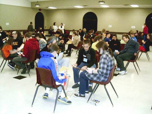 St. Monica Catholic Church, and more than 100 of members of its  youth group,  took part in a poverty simulation put on by the Oklahoma Department of  Commerce.  Photo by Steve Gust, for The Oklahoman <strong>Steve Gust</strong>