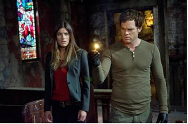 "Jennifer Carpenter and Michael C. Hall in ""Dexter"" - Showtime Photo"