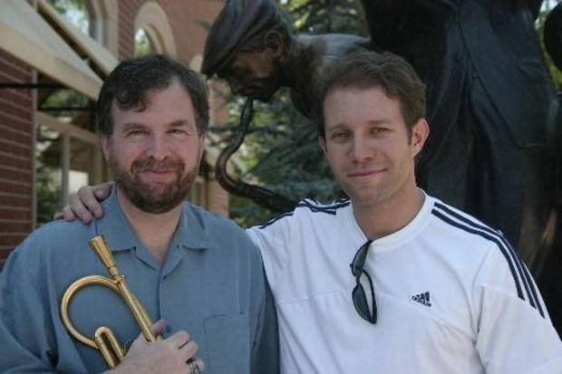 "UCO music professor Jim Klages, left, and Sam Karp, director and producer of ""Healed: Music, Medicine and Life with MS."" Photo provided."