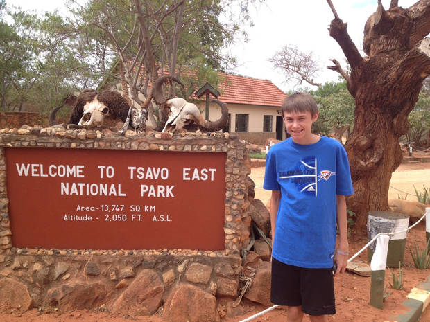 Landon Wilguess, OKC, Thunders Up on safari in Kenya