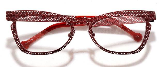 Eyelgasses have gone from nerd necessity to fashion accessory like this pair from l.a. Eyeworks. (Kirk McKoy/Los Angeles Times/MCT)