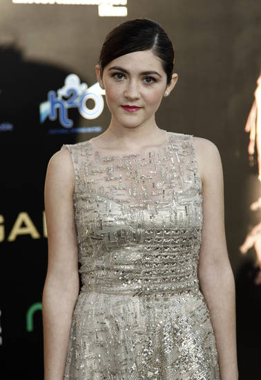 "Isabelle Fuhrman arrives at the world premiere of ""The Hunger Games"" in Los Angeles. (AP Photo/Matt Sayles) <strong>Matt Sayles - AP</strong>"