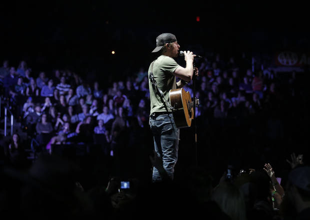 Dierks Bentley performs at the Chesapeake Energy Arena in Oklahoma City, Friday, March 8, 2013.  Photo by Garett Fisbeck, For The Oklahoman