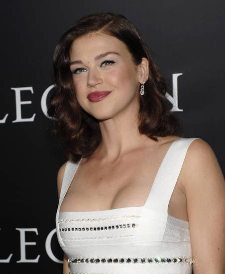 "Actress Adrianne Palicki arrives at the premiere of the feature film ""Legion"" in Los Angeles on Thursday, Jan. 21, 2010.  (AP Photo/Dan Steinberg)"