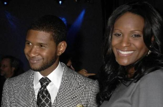 R&B singer Usher and former wife Tameka Foster Raymond at an event in New York City (AP Photo by John Smock)