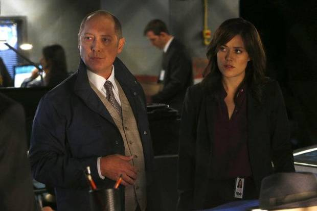 "James Spader and Megan Boone star in ""The Blacklist."" - (Photo by Will Hart/NBC)"