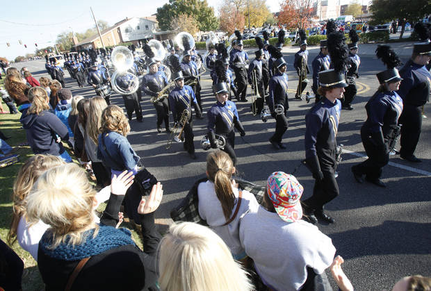 The UCO Band performs during the University of Central Oklahoma's homecoming parade in Edmond, OK, Saturday, November 3, 2012,  By Paul Hellstern, The Oklahoman