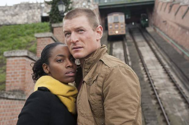 "Milauna Jackson (l.) and Philip Winchester (r.) in Cinemax's hit action series ""Strike Back."" - Photo by Liam Daniel/Cinemax"