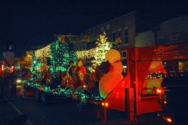 Downtown Stillwater�s parade of lights kicks off the holiday season. Photo by Jennifer Gray, city of Stillwater