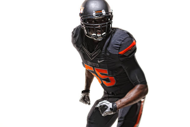 An all-black version of OSU's new uniforms. PHOTO PROVIDED