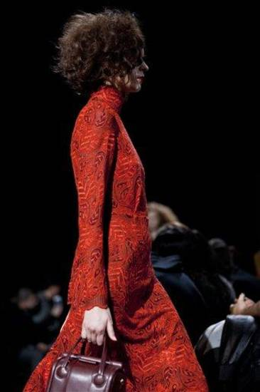 A model walks the runway during the Marc by Marc Jacobs Fall 2013 fashion show during Fashion Week, Monday, Feb. 11, 2013, in New York. (AP Photo/Karly Domb Sadof)