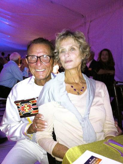 Jim Vallion, Lauren Hutton.  PHOTO PROVIDED