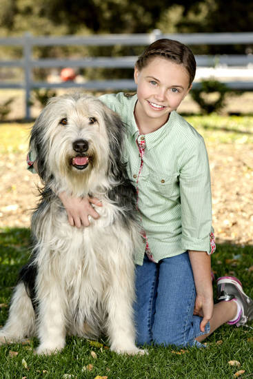 "Katie Hawkins is shown with BugZ from the movie ""Puppy Love."" HALLMARK CHANNEL PHOTO <strong>Alexx Henry</strong>"