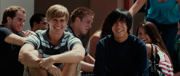 "Randy Wayne, portrays Jake Taylor and Sean Michael Afable portrays Jonny in this scene from the 2010 film ""To Save a Life."" Photo by Samuel Goldwyn Films <strong></strong>"