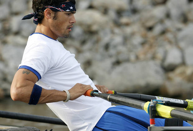 Paralympic Rower Tony Davis practices on the Oklahoma River in Oklahoma City on Tuesday, June 14, 2011. Photo by John Clanton, The Oklahoman
