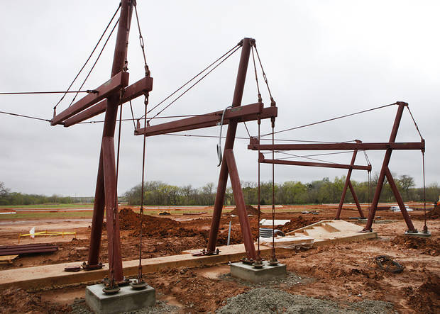 Construction of Edmond�s new softball complex is underway. It is expected to be completed by late summer or early fall.  Photos By David McDaniel, The Oklahoman