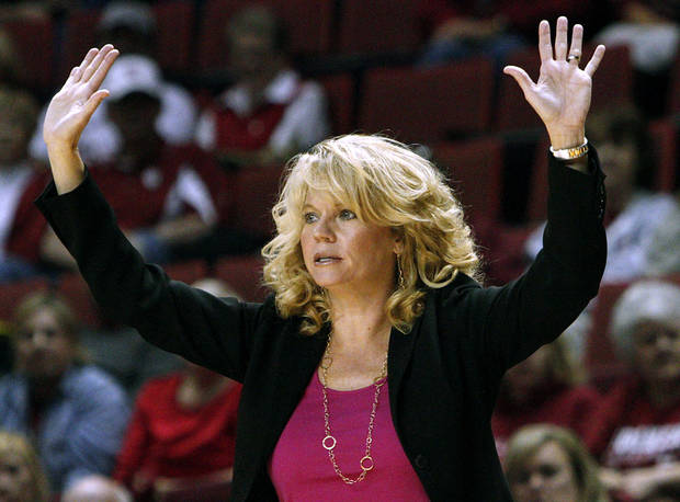 OU women's basketball coach Sherri Coale was selected the winner of a United Nations NGO Positive Peace Award. Photo by John Clanton, The Oklahoman