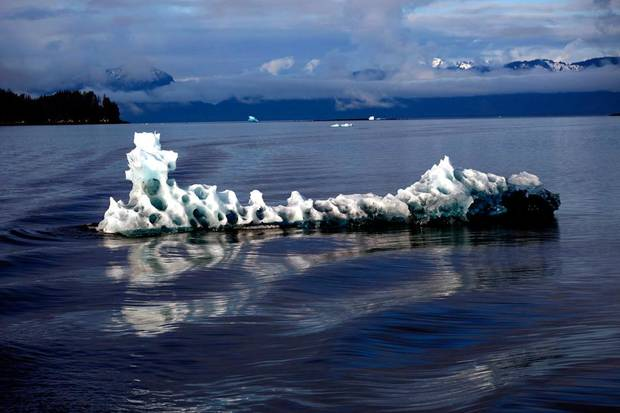 An Iceberg floats in Tracy Arm in Southeast Alaska, Sunday, June 3, 2012.  Photo by Sarah Phipps, The Oklahoman