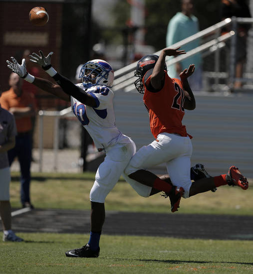 during a high school football game between Douglass and Millwood in Oklahoma City, Saturday, Sept. 8, 2012.  Photo by Garett Fisbeck, The Oklahoman