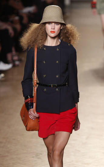 The Marc by Marc Jacobs spring 2011 collection is modeled during Fashion Week in New York, Tuesday, Sept. 14, 2010.  (AP Photo/Seth Wenig) ORG XMIT: NYSW106